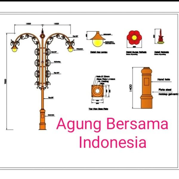 Tiang Lampu Antik Dekoratif Bengkulu