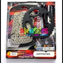 CHAIN KITS YUZAKA YAMAHA JUPITER MX 135 – PAKET GEAR DEPAN BELAKANG + RANTAI VARIASI