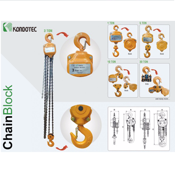 Chain Block Kondotec