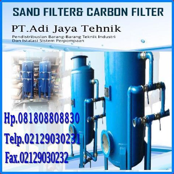 carbon filters and sand filter