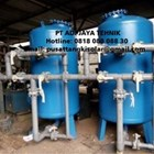 Sand filter and carbon filter tanks 1