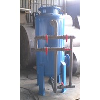 Sand filter tank silica
