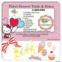 Paket dessert table & decor