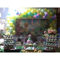 paket dekor balon dan dessert table
