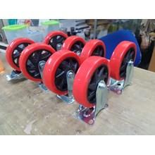 Roda Trolley Uk. 5inch P.U ( Poly Urethane)