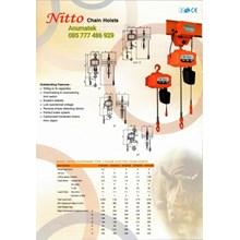 Electric Chain Hoist Nitto 1 Ton x 6 Meter 1Phase
