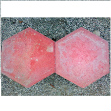 Paving Block Faceted 6 Red & 6Cm Red