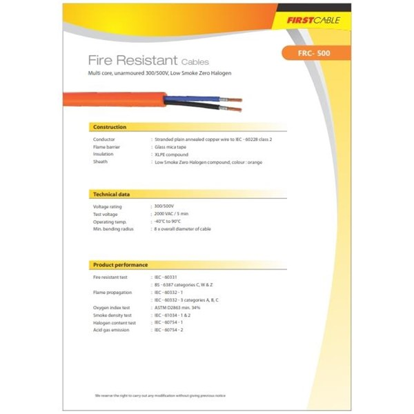 Fire Resistance Cable  FRC