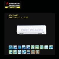 AC AIR CONDITIONER AC Mitsubishi 0.5PK Type SRK 05 CRP Freon R410 RP. 2.900.000 *BISA HUTANG DAN CICILAN 0%