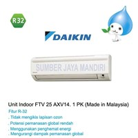 AC Air Conditioner AC Daikin  1PK FTV 25AXV14 Freon R32 Rp. 3.100.000 *Bisa Hutang Dan cicilan 0%