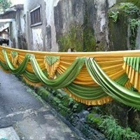 Wedding decoration and gifts distributor in jakarta supplier sell rumbai poni hijau junglespirit