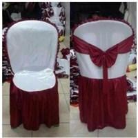 Jual Sarung Kursi Napoli putih merah