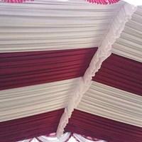 Plafon tenda pesta Sentris merah dan putih 1
