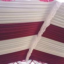 Plafon tenda pesta Sentris merah dan putih