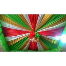 Plafon Tenda Balon DPRS Hijau Merah