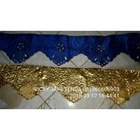 Prasmanan Meja Bordir Biru dan Gold
