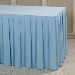 Table Skritting Taplak Meja Biru Muda