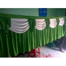 Backgroun Dinding Tenda Pesta Warna Hijau-Putih
