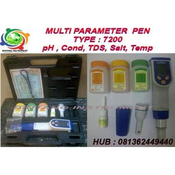 Jual Multi Parameter PORTABLE EZDO BI 7200 : pH COND TDS SALINITY