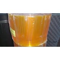 Pvc strip curtain yellow n clear