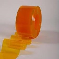 pvc curtain yellow orange 081293660186