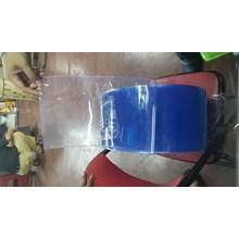 Tirai plastik pvc curtain blue clear