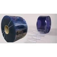 Jual Pvc Strip Curtain Blue Clear (Tirai plastik blue clear) 2