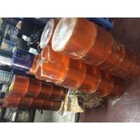 Distributor agen pvc curtain tirai plastik bening dan orange 3