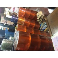 agen pvc curtain tirai plastik bening dan orange