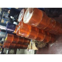 agen pvc curtain tirai plastik bening dan orange 1