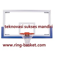 Papan Pantul Basket - tempered glass tebal 12