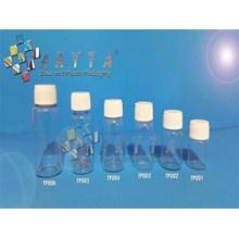 Botol kaca bening 18ml tutup putih plastik  (New) (TP004)