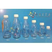 Botol kaca bening 100ml tutup putih plastik (secon