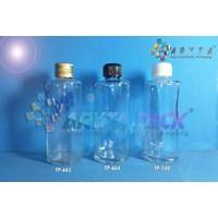 Botol kaca bening 100ml FNG tutup putih plastik (N