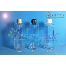 Botol kaca bening 100ml FNG tutup hitam plastik (New) (TP664)
