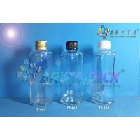 Botol kaca bening 100ml FNG tutup kaleng emas (New