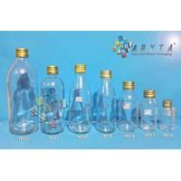 Jual Botol kaca bening 500ml tutup emas kaleng (second)