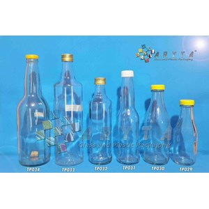Dari Botol kaca bening 600ml kecap tutup sumbat plastik (second) (TP034) 0