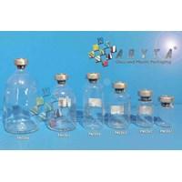 Botol kaca bening 10ml injeksi tutup aluminium (second) (PNC062)
