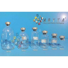 PNC062. Clear glass bottle 10ml injection aluminum