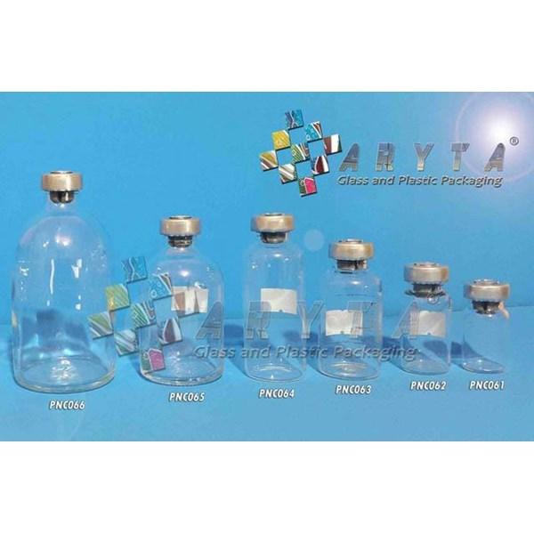 Botol kaca bening 20ml injeksi tutup aluminium (second) (PNC063)