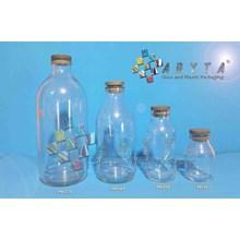 Botol kaca bening 500ml injeksi tutup karet (second) (PNC070)
