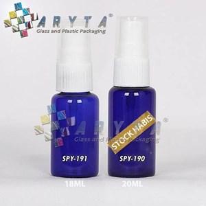 From SPY190. Blue glass bottle 20 ml spray caps  0