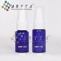 Botol kaca biru 15ml tutup pump (PMP192)