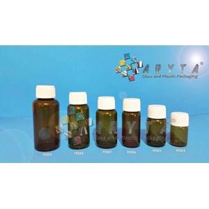 Botol kaca coklat 10ml tutup plastik (New) (TP085)