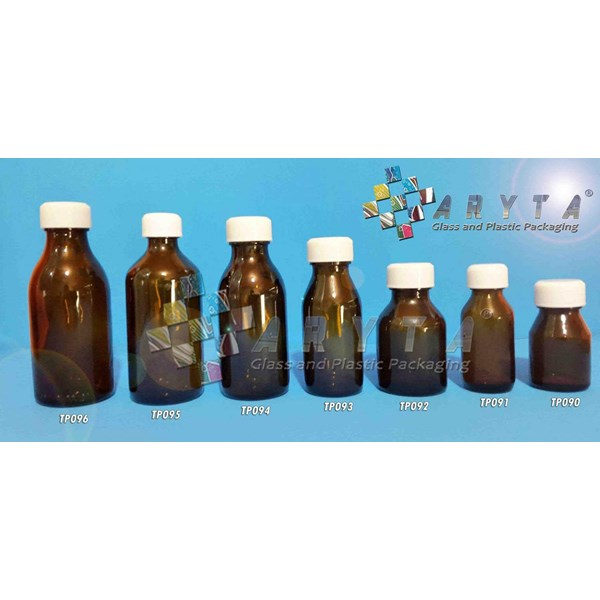 TP090. 30 ml brown glass bottles BK plastic cap (Second)