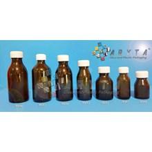 Botol kaca coklat 60ml BK tutup plastik (Second) (TP092)