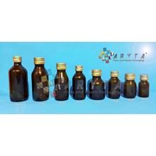 Botol kaca coklat 30ml kosir tutup kaleng (Second) (TP104)