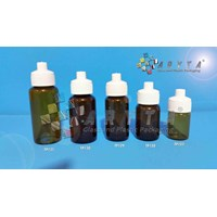 Botol kaca coklat 18ml tutup telon (New) (TP130)