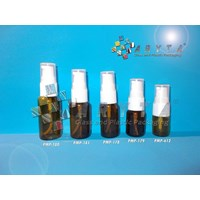 Botol kaca coklat 10ml tutup pump (New) (PMP179)